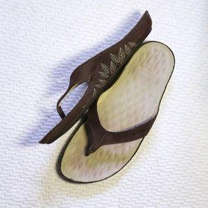 Patagonia Nubuck Leather Flip Flop Thong Sandal